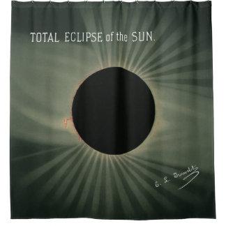 Trouvelot Zeichnungen - totale Finsternis des Sun Duschvorhang