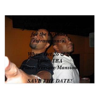 Tru und Kenny, 35/40 sein eine Feier. Verbinden Postkarte