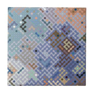 Truchet Muster 1 - blaues Braun Keramikfliese