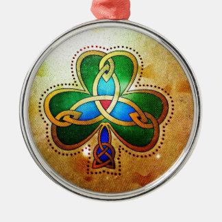 True Love Rundes Silberfarbenes Ornament