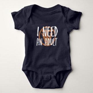 TrueVanguard - ich benötige einen Erwachsenen - Baby Strampler