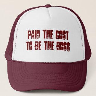 Trug die Kosten, um der Chef-Hut zu sein Truckerkappe