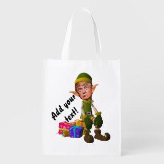 Trump der Kobold Wiederverwendbare Einkaufstasche
