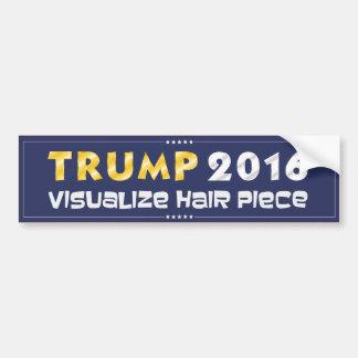 Trumpf 2016: Machen Sie Haar-Stück sichtbar Autoaufkleber