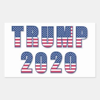 Trumpf 2020 rechteckiger aufkleber