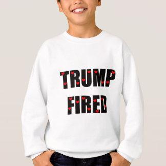 Trumpf abgefeuert mit Herzen Sweatshirt