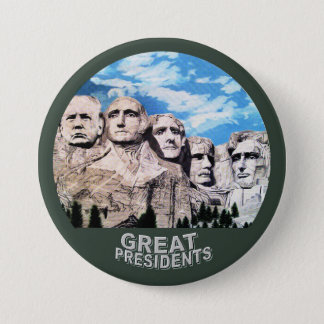 Trumpf auf Rushmore Runder Button 7,6 Cm