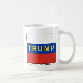 Trumpf auf russischen Flagge TRUMPF-PENNYS Kaffeetasse