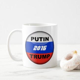 Trumpf-Becher-lustiger Kampagnen-Knopf-Entwurf Kaffeetasse