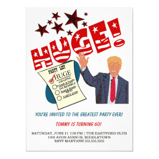 Trumpf-bestste Party-überhaupt ENORME Party Karte