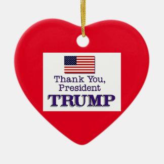Trumpf danken Ihnen Keramik Herz-Ornament