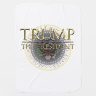 Trumpf - der Präsident Baby Blanket Puckdecke
