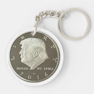 Trumpf-doppelte Eagle-Münze Schlüsselanhänger
