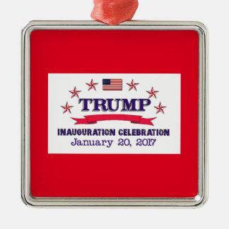 Trumpf-Einweihung Silbernes Ornament
