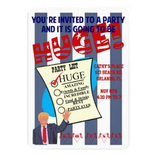 Trumpf-ENORME Wahl-EröffnungstagesParty Einladung
