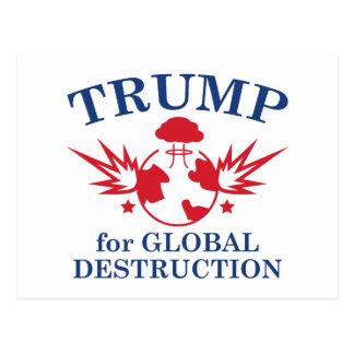 Trumpf für globale Zerstörung Postkarte