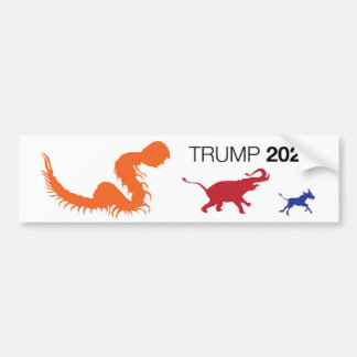 Trumpf-Hundertfüßer Trumper Aufkleber 2020 Autoaufkleber