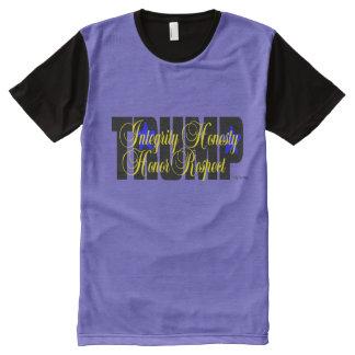 Trumpf-Integritäts-Ehrlichkeits-Respekt-Ehre! T-Shirt Mit Bedruckbarer Vorderseite