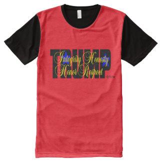 Trumpf-Integritäts-Ehrlichkeits-Respekt-Ehre! T-Shirt Mit Komplett Bedruckbarer Vorderseite