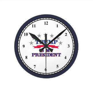 Trumpf ist mein Präsident Runde Wanduhr