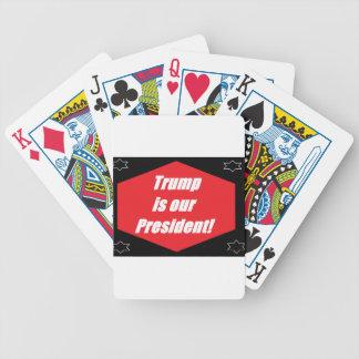 Trumpf ist unser Präsident Bicycle Spielkarten