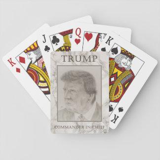 Trumpf, Kommandant - herein - Leiter Pokerkarten