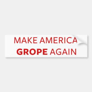 Trumpf: Lassen Sie Amerika wieder tastend suchen Autoaufkleber