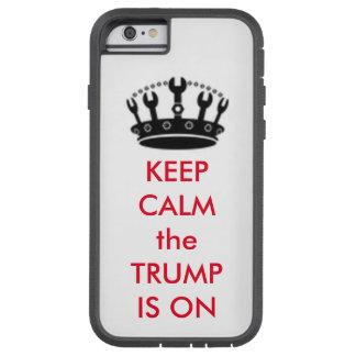 """TRUMPF mit Handwerks-Kronen-""""behalten Ruhe-"""" Tough Xtreme iPhone 6 Hülle"""