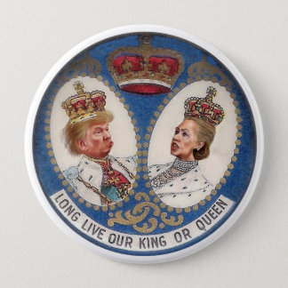 Trumpf oder Clinton Runder Button 10,2 Cm