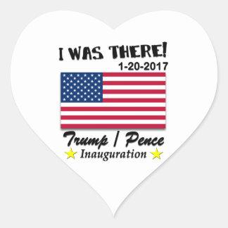 Trumpf Penc e2017 war ich dort Einweihung 2017 Herz-Aufkleber