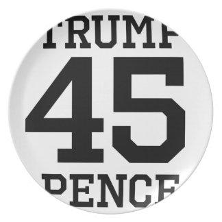 Trumpf-Pennys 45 Melaminteller
