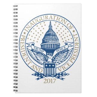 Trumpf-Pennys-Präsident Inaugural Logo Spiral Notizblock