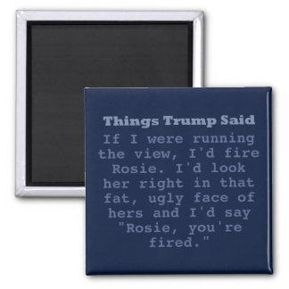 "Trumpf Rosie - 2"" quadratischer Magnet"
