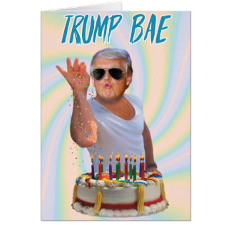 Trumpf-Salz Bae Geburtstags-lustige Papierkarte Karte