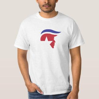 Trumpf-Silhouette Toupee Stern-Entwurfs-Shirt, USA T-Shirt