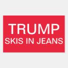 Trumpf-Skis in den Jeans Rechteckiger Aufkleber