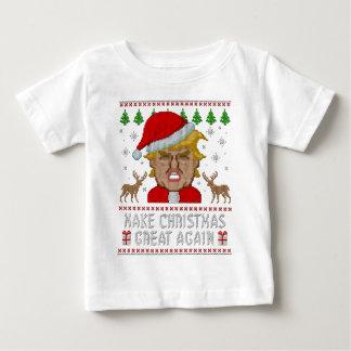 Trumpf stellen Weihnachten große wieder hässliche Baby T-shirt