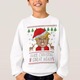 Trumpf stellen Weihnachten große wieder hässliche Sweatshirt