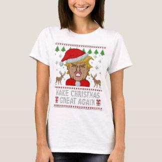 Trumpf stellen Weihnachten große wieder hässliche T-Shirt