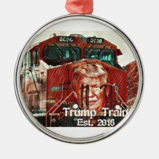 Trumpf-Zug… Est. 2016 Rundes Silberfarbenes Ornament