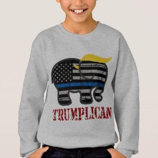 Trumplican verdünnen Blue Line Sweatshirt