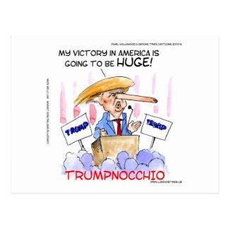Trumpnocchio lustige Donald Trump Einzelteile Postkarte