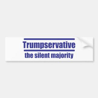 Trumpservative das schweigende Mehrheit, Autoaufkleber