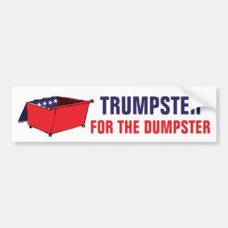 Trumpster für das Müllcontainer-lustige politische Autoaufkleber