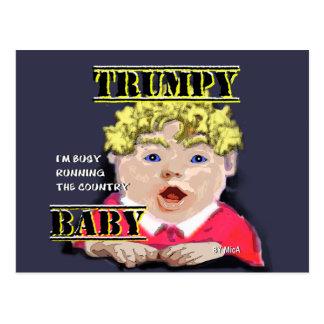 Trumpy Baby-Postkarte Postkarte