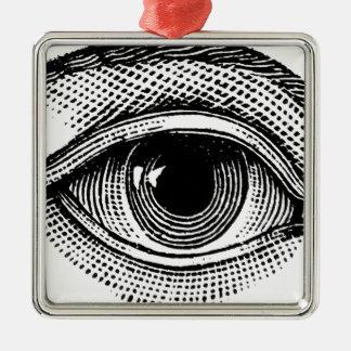Trurh 2016 quadratisches silberfarbenes ornament
