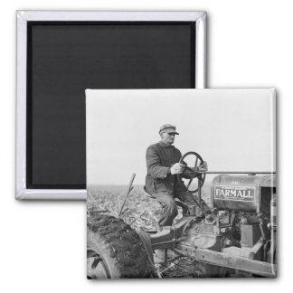 Trusty alter Traktor, Dreißigerjahre Quadratischer Magnet