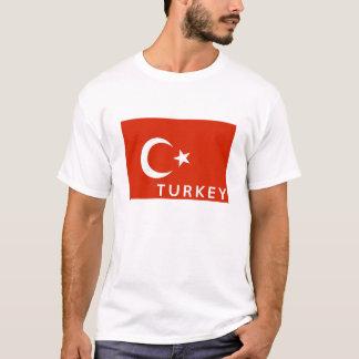 Truthahn-Landesflaggesymbol-Namentext T-Shirt