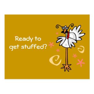 Truthahn mit Spezifikt., bereit, angefüllt zu Postkarte