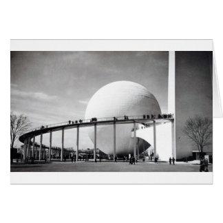 Trylon u. Perisphere New York Weltausstellung-Auto Karte